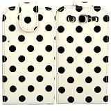 Polka Flip Case Cover Shell For Samsung Galaxy S3 i9300 / Black Polka Dots Spots White