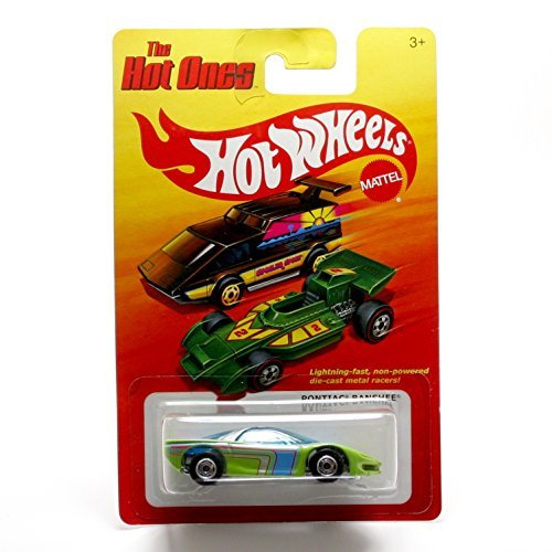 PONTIAC BANSHEE (GREEN) * The Hot Ones * 2011 Release of the 80's Classic Series - 1:64 Scale Throw Back HOT WHEELS Die-Cast Vehicle