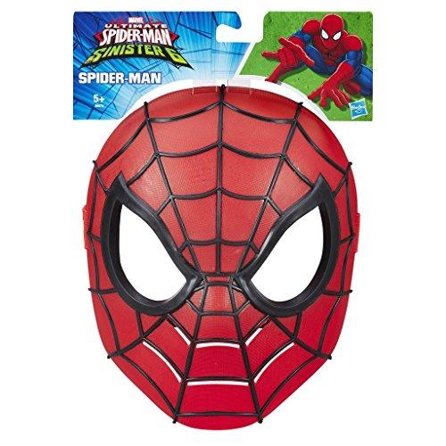 Ultimate Spider-Man Maske: Iron Spider Kostüm Zubehör für Kinder Verkleidung