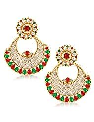 Sukkhi Finely Gold Plated Australian Diamond Dangle & Drop Earrings For Women