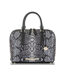 Vivian Dome Satchel<br>Black Seville