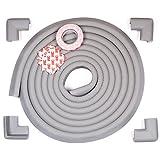 Edge Armor 16.4 FEET of Edge Guards and 4 Corner Protectors - Premium Furniture Corner Safety Bumpers - Slate Grey