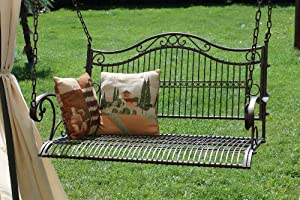 Altalena panchina a dondolo con catena da giardino giardino e giardinaggio - Amazon dondolo da giardino ...