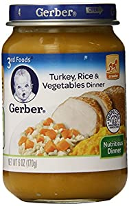 Gerber 3rd Foods Turkey Rice & Vegetables, 6-Ounce (Pack of 12)