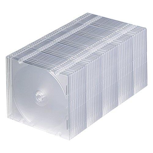 サンワサプライ DVD・CDケース(1枚収納)(クリア) 50枚セット FCD-PU50C