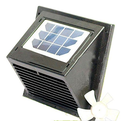 Norestar Wall Solar Powered Vent/Fan, for Boat, Bathroom, Basement, Greenhouse, Shed, and More (Vent Greenhouse compare prices)