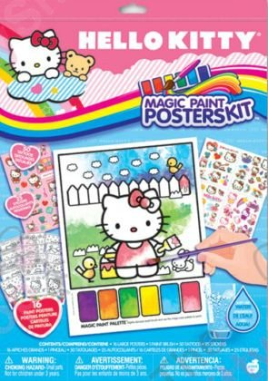 Hello Kitty Paint Poster Kit in a Bag (Magic Paint Set compare prices)