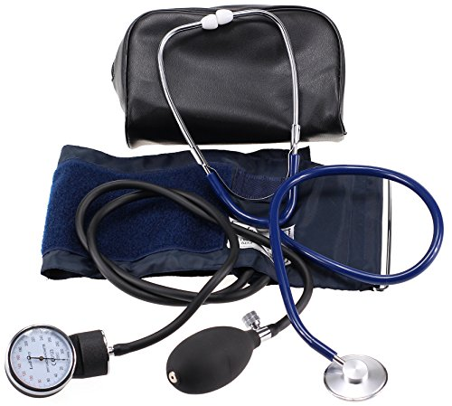 LotFancy Manual Blood Pressure Cuff, Aneroid Sphygmomanometer and Stethoscope Kit with Zipper Case, FDA Approved (Manual Blood Pressure Cuffs compare prices)