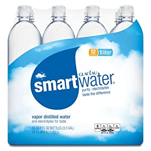 Glaceau Smartwater Electrolytes Enhanced - 1 Liter (34oz) Case of 12