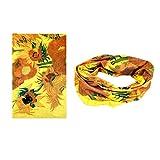Versatile Seamless Style Bandanna Headwear Scarf Wrap£¬ Sunflowers