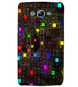 PrintDhaba BOX PATTERN D-6412 Back Case Cover for SAMSUNG GALAXY ON5 (Multi-Coloured)