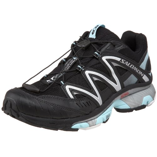 Salomon Women's XT Wings 2 Trail Running Shoe,Black/Black/Aqua Tint,9.5 M US