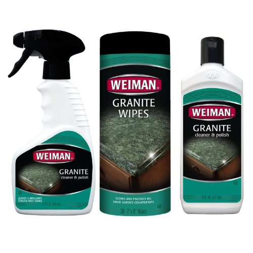 Weiman Granite / Marble / Solid Surface Countertop Cleaner & Polish - 3pc Set (Corian Counter Top compare prices)