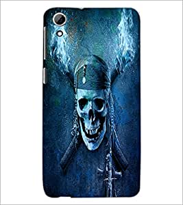 PrintDhaba Pirate's skull D-4382 Back Case Cover for HTC DESIRE 826 (Multi-Coloured)