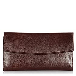 Alessia74 Combo Wallet for Men and Women (Dark Brown) (14491)