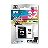 シリコンパワー micro SDHCカード 32GB (Class10) 永久保証 (SDHCアダプター付) SP032GBSTH010V10-SP