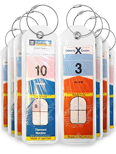 cruise-luggage-tags-holders-8-pc-for-royal-caribbean-celebrity-cruise-ships-eight-new