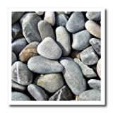 InspirationzStore Graphic Textures - Dry beach pebbles texture photo - Little stones Natural rocks nautical grey gray brown nature - 10x10 Iron on Heat Transfer for White Material (ht_157799_3)