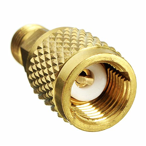 BephaMart 1/4inch Male SAE to 5/16inch Female SAE Adapter for R410a Mini Split HVAC System (R410a Split System compare prices)