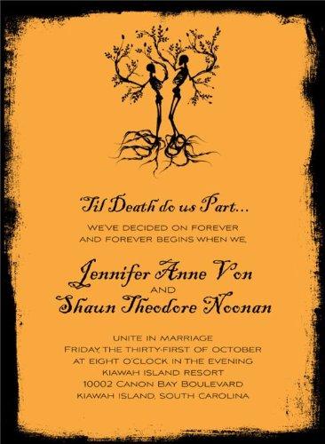Having A Hallowedding Best Halloween Wedding Invitations Infobarrel