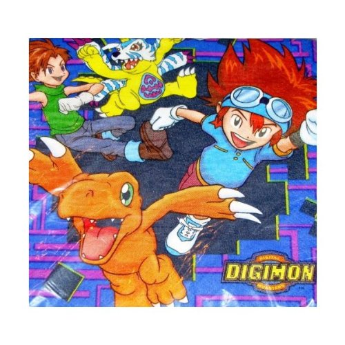 Digital Digimon Monsters Lunch Napkins (16 Count) - 1