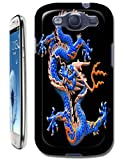 The Hallowmas Gift With Beautiful Fire Flowers Horses Dragon Nice Fashion Cell Phone Cases Design Special For Samsung Galaxy S3 i9300 No.14