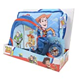 Toy Story Woody Buzz Cushion Alarm Clock Bag Childrens Complete Gift Set NEW