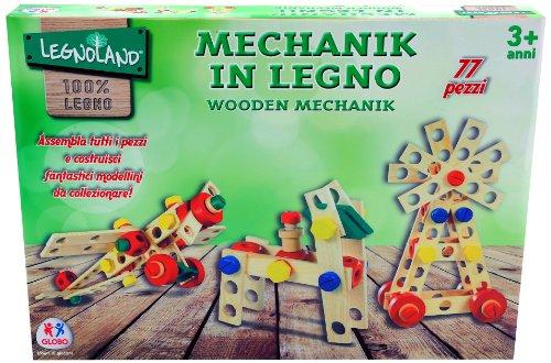 Legnoland 36264 - Mechanik in Legno, 77 Pezzi