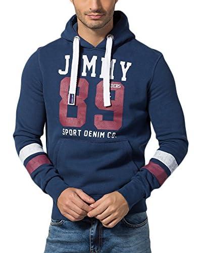 Jimmy Sanders Sudadera con Capucha Azul Oscuro