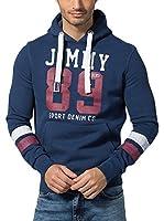 Jimmy Sanders Sudadera con Capucha (Azul Oscuro)