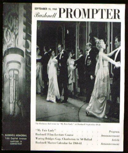 My Fair Lady Bushnell Program Hartford Connecticut 9 1960