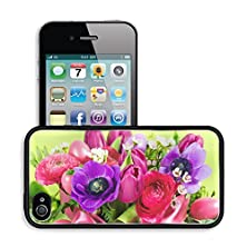 buy Luxlady Premium Apple Iphone 4 Iphone 4S Aluminum Backplate Bumper Snap Case Image Id 21105025 Bouquet Of Colorful Spring Flowers With Easter Eggs