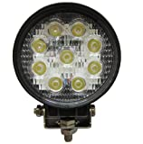 OC Gizmo 27W Round LED Work Light Lamp Off Road High Power ATV Jeep 4x4 Tractor 60 Degree Flood Light