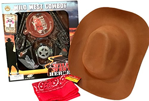[Wild West Ranger Dress-Up Costume Accessories - COWBOY and COWGIRL Styles (Wild West - COWBOY (10] (Cowboy Dress Up Accessories)