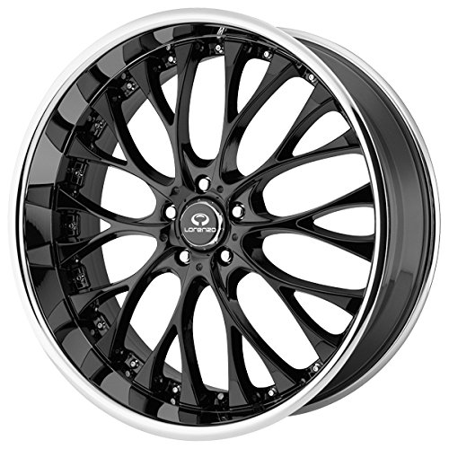 20x10 Lorenzo WL27 (Gloss Black w/ Chrome Lip) Wheels/Rims 5x115 (WL02721015040)