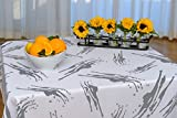 "BottleCloth Table Cloth - Eco Chic - Spill Proof - 60""x60"" - White & Gray - Splatter"