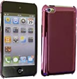 Chrome Finish Back Case Cover For Apple iPod Touch 4th Generation (8GB 16GB 32GB 64GB) With Mirror Screen Protector - Pink