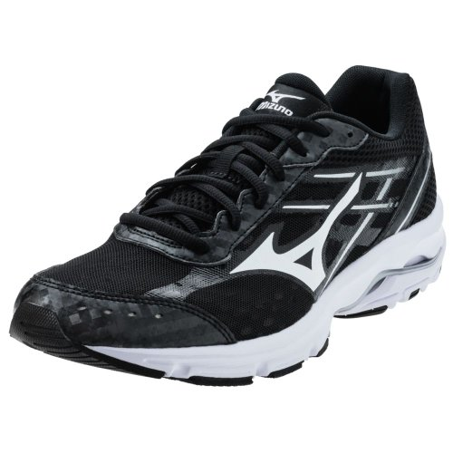 Mizuno Men'S Wave Unite 2 Running/Training Shoe - Black & White (Black/White, 16)