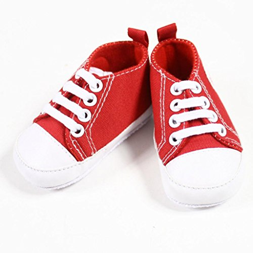 Fashionwu Infant Toddler Baby Boy Girl Soft Sole Crib Shoes Sneaker Red 9-12 Months front-38913