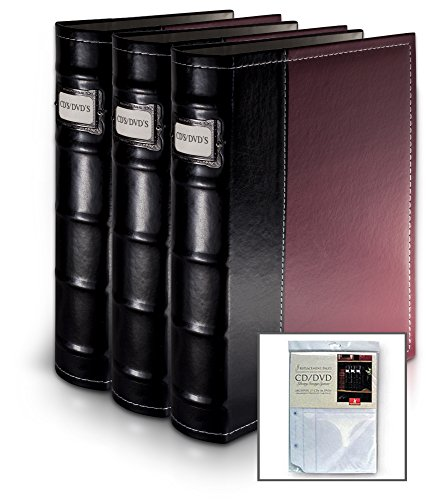 Burgundy DVD Organization Binders-holds 176 DVD's (w/extra insert) (Dvd Insert Covers compare prices)
