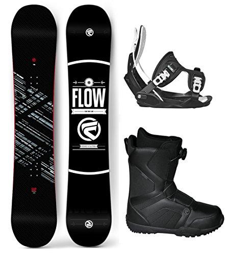 Flow 2017 Gap Men's Complete Snowboard Package Flow Bindings Flow BOA Boots - Board Size 151 (Boot Size 11) (Flow Snowboard Packages Mens compare prices)
