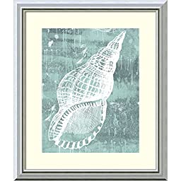 Framed Art Print, \'Ocean Tokens II\' by Sabine Berg: Outer Size 17 x 20\