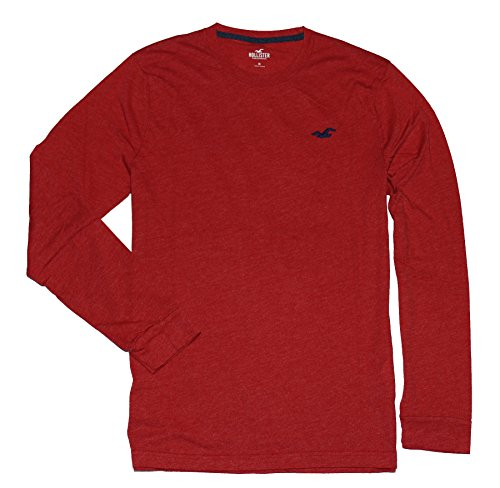 hollister-hco-men-long-sleeve-crew-neck-logo-tee-s-red