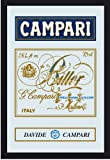 Empire Merchandising 537508 Printed Mirror with Plastic Frame with Wood Effect Featuring Campari Advert 20 x 30 cm