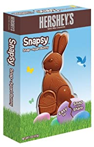 Hershey's Easter Solid Milk Chocolate Bunny, Snapsy, 2-Ounce Packages (Pack of 6)