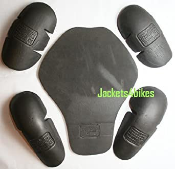 5PC 5-PC BLACK REPLACEMENT ARMOR MOTORCYCLE BIKE JACKET