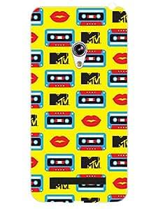 Asus Zenfone 5 Back Cover - MTV Gone Case - Music Love Cassette - Yellow - Designer Printed Hard Shell Case