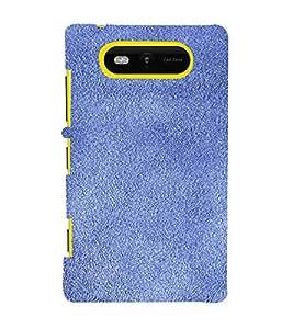 PrintVisa Blue Sand Paper Design 3D Hard Polycarbonate Designer Back Case Cover for Nokia Lumia 820