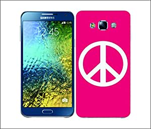 Galaxy Printed 2586 Peace Emblems Pink Hard Cover for Samsung CORE 2