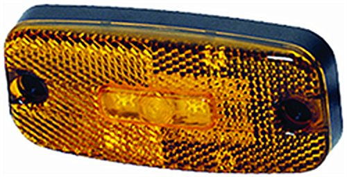 Hella 963639011 3639 Series Led Amber Side Marker Lamp With Reflex Reflector